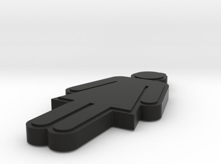 Standard Bathroom Key Holder Womens 3d printed