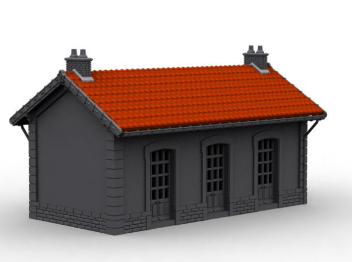 NGH20 Small train station 3d printed