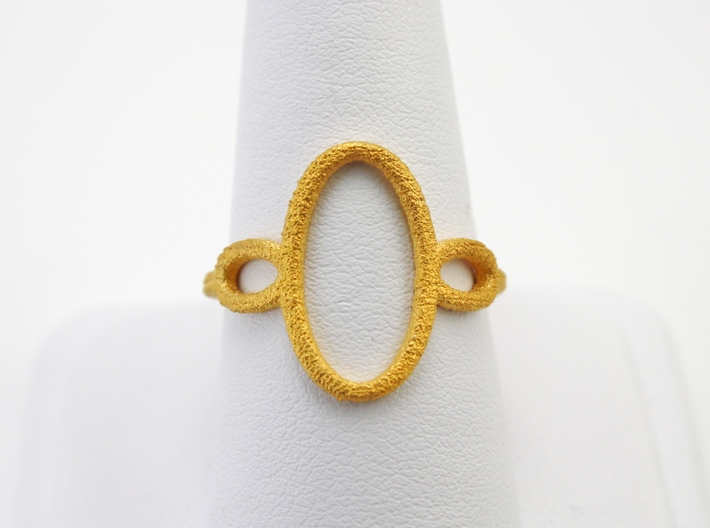 Oval Looped Ring - US Size 09 3d printed