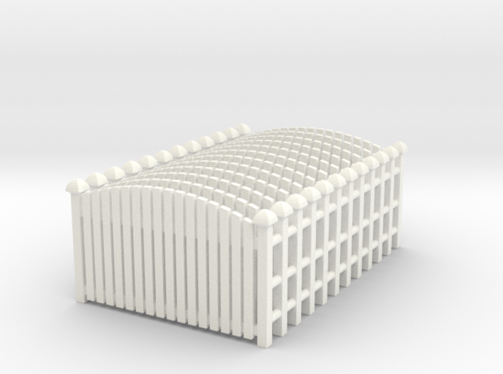 Fence 02. HO Scale (1:87) 3d printed set of 12 fences in HO scale