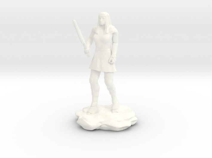 Amazon Guard in Tunic with Sword 3d printed