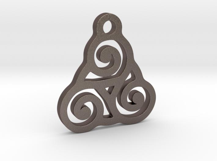 Triskelion Pendant 03 3d printed