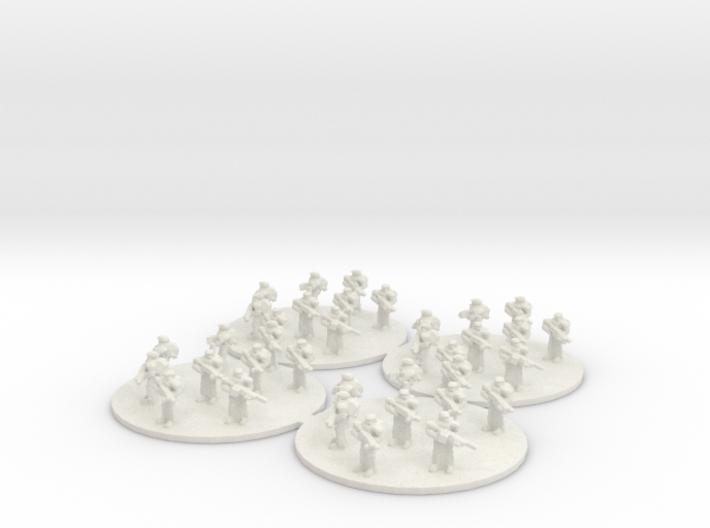 Sci Fi Infantry Platoon (based) 6mm SFP 3d printed