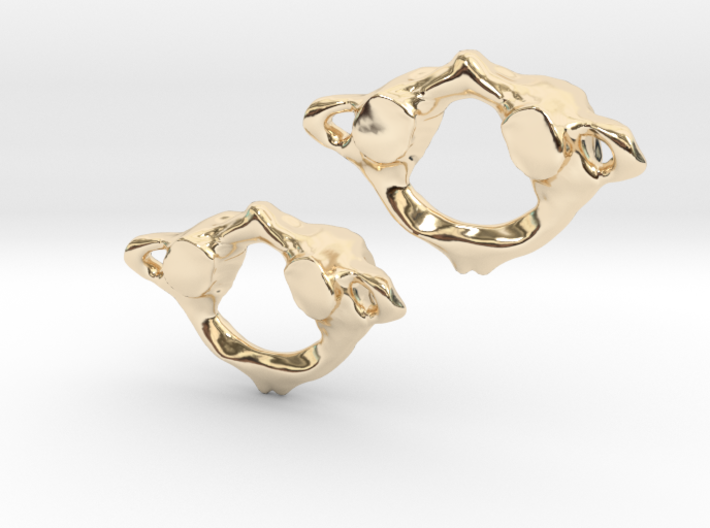 C1 Atlas Anatomical Earrings 3d printed