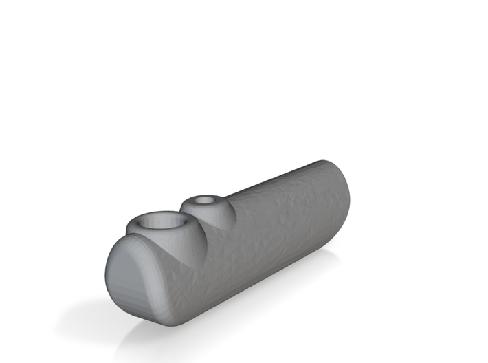Peashooter pipe 3d printed