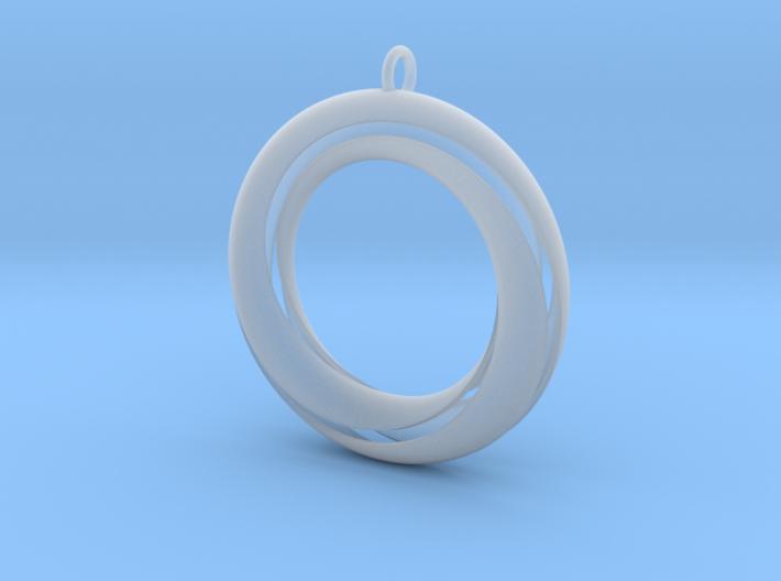 Mobius 3 Pendant 3d printed