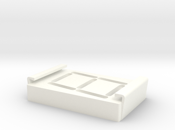 Skee Ball Ball Count Display Cover 3d printed Shapeways render of the polished white plastic
