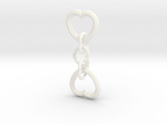 Heart to Heart Keychain 3d printed
