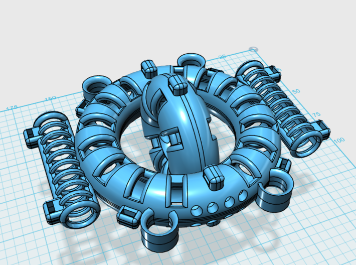 Keshe Health Ring Right 3d printed