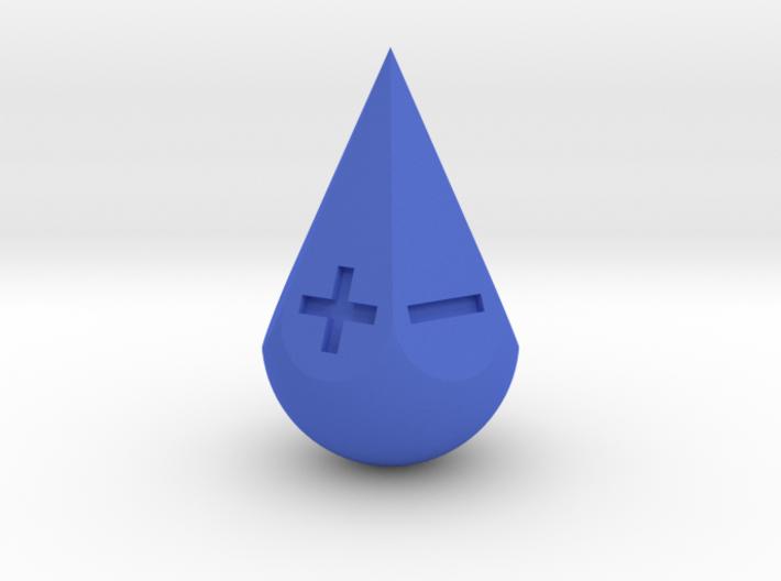 Fudge Teardrop 3d printed teardrop blue
