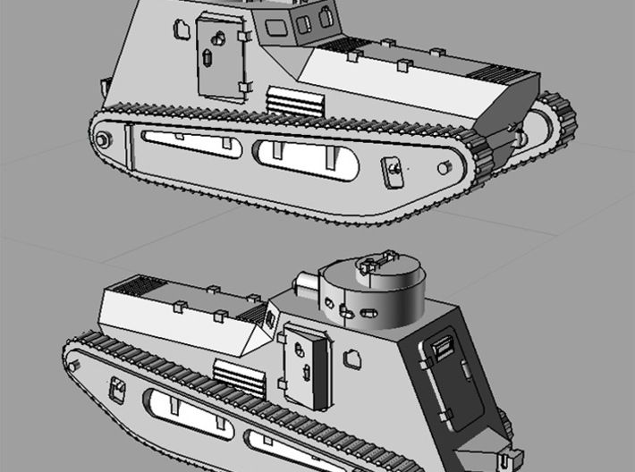 1/285 LK-II light tank (x6) 3d printed