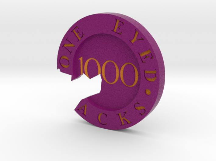 One Eyed Jacks Broken Poker Chip 3d printed
