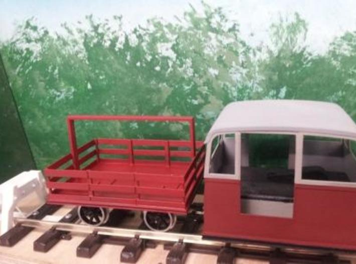 Victorian Railways Whitfield trolley trailer body  3d printed Whitfield trolley and trailer using GRSUK wheels and axle brackets