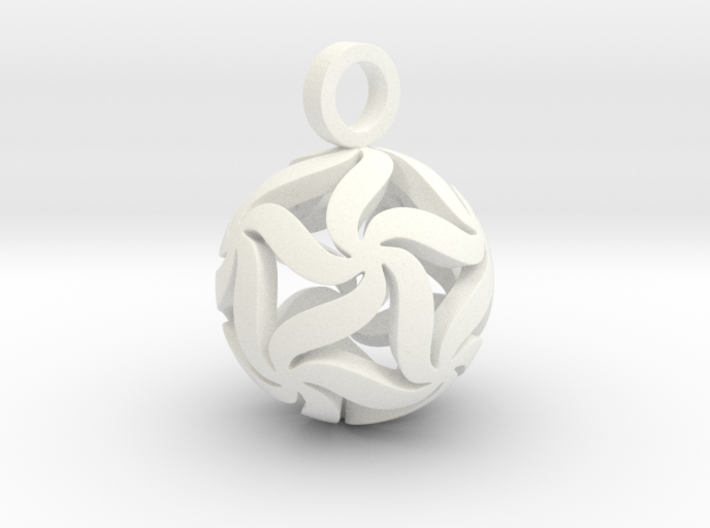Star Ball Floral (Pendant Size) 3d printed