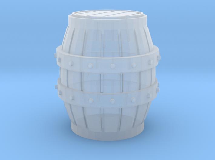 Medieval Barrel miniature 3d printed