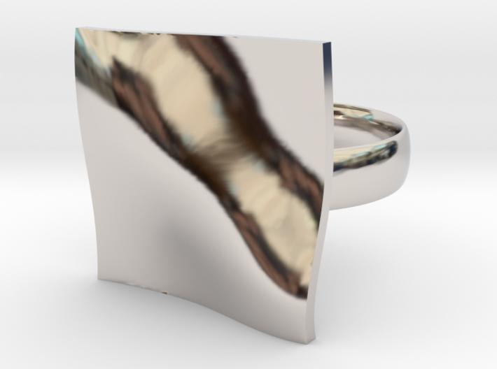 OCEAN Ring Wide circle 3d printed