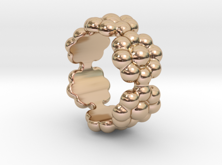 New Flower Ring 22 - Italian Size 22 3d printed