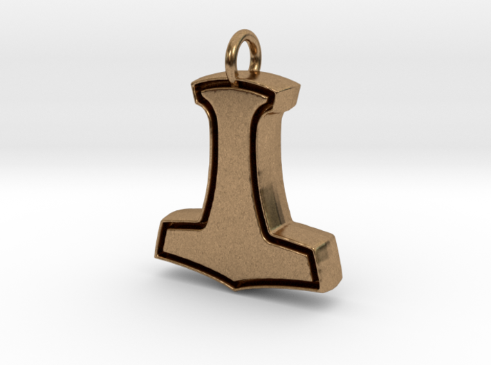 Minimalist mjolnir pendant rgbqs3sla by jamesdcormier minimalist mjolnir pendant 3d printed aloadofball Images