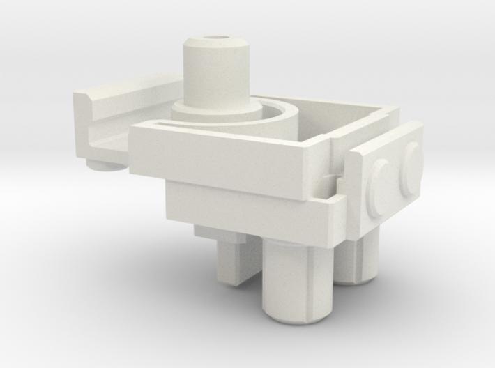 CW Brawl To Energon Foot Adapter 3d printed