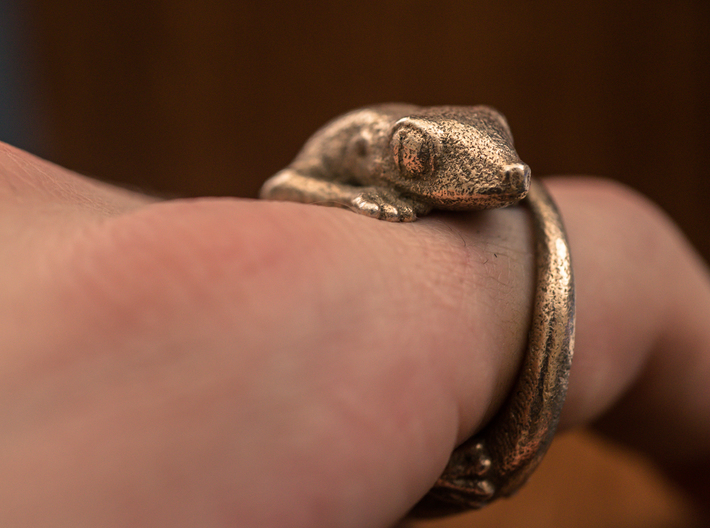 (Size 12) Gecko Ring 3d printed