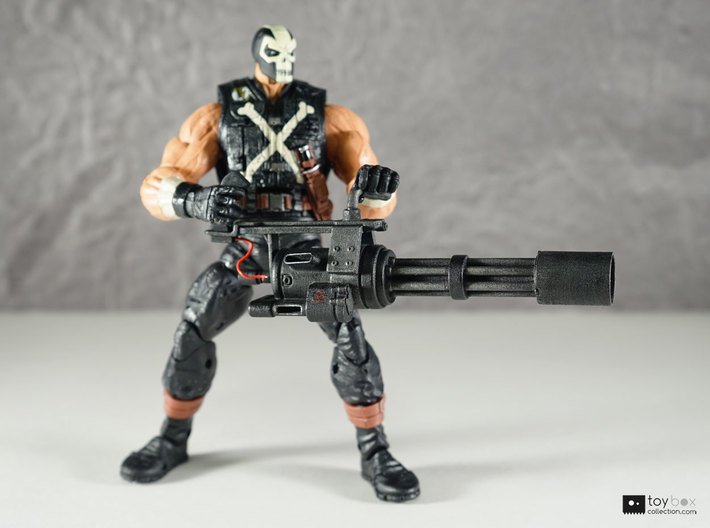 1:12 Minigun for Marvel Legends Crossbones 3d printed Optional sleeve attached, model has been painted and detailed