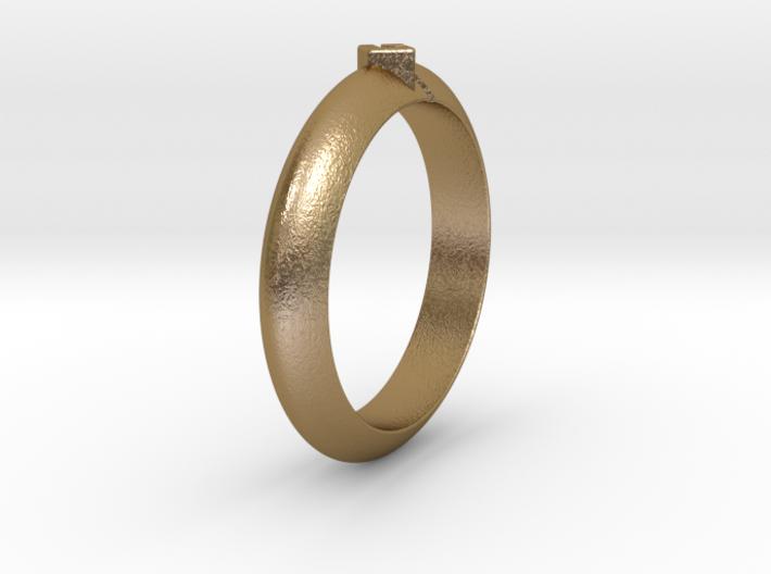 Ø18.35 Mm Arrow Square Design Ring Ø0.722 Inch 3d printed