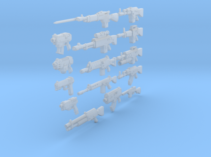 28mm various weapons SciFi 3d printed