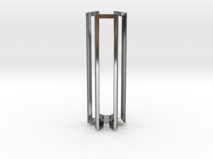 50mm Hex Jewel Pendant 3d printed