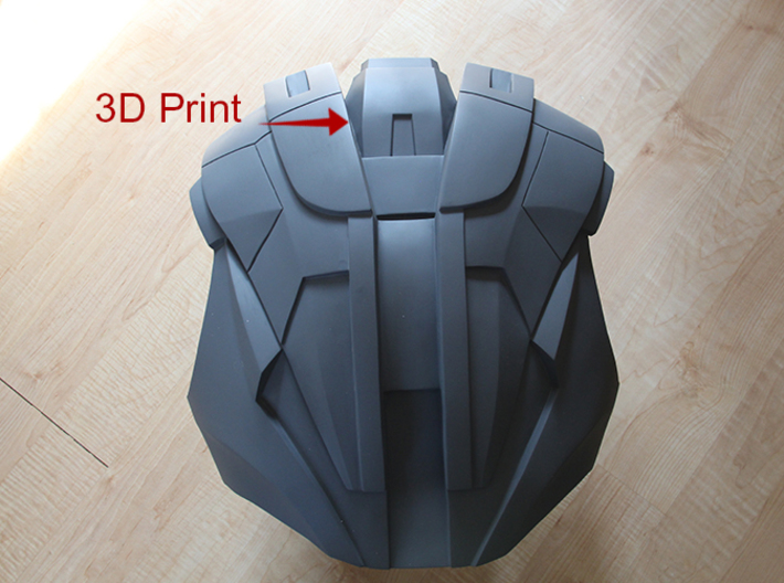 Iron Man Mark IV/Mark VI Lower Neck Armor (Back) 3d printed 3D print incorporated into Back Armor, Sanded & Primed