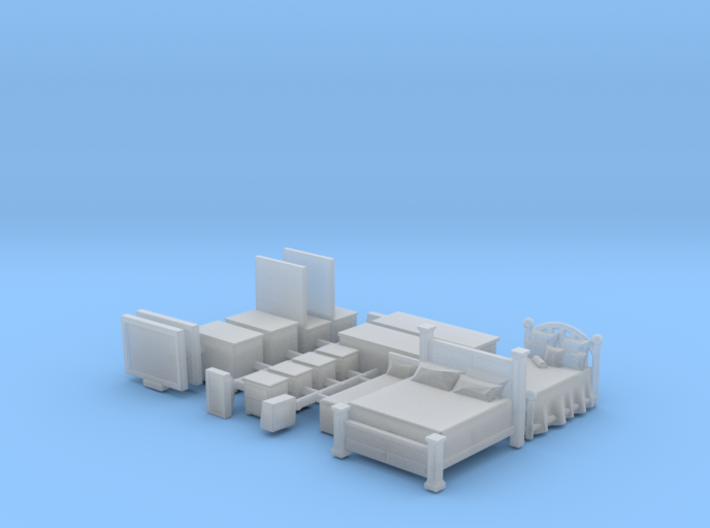Bedroom Set N Scale 3d printed