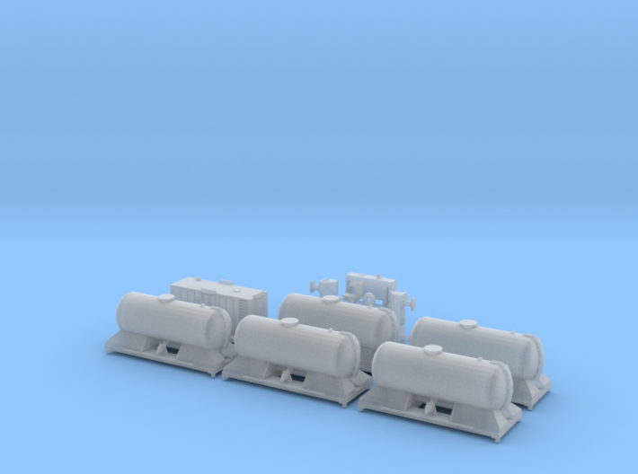 FEA-B Rail Head Treatment Train Five Tank Version 3d printed