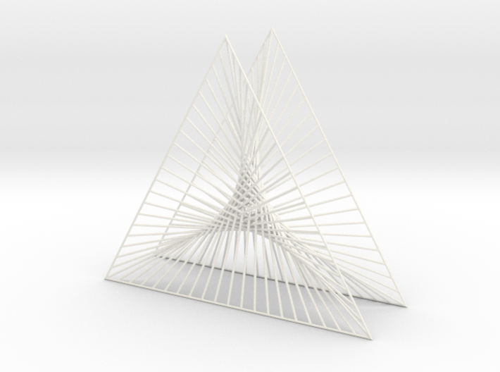 Shape Wired Parabolic Curve Art Triangle Base V1 3d printed