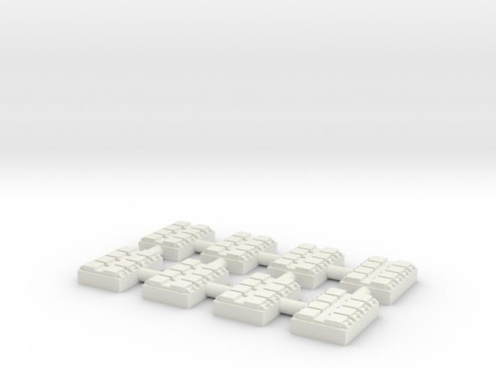 1/500 8 Cell Mk 41 VLS (x8) 3d printed