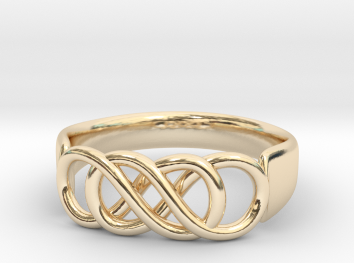 Double Infinity Ring 14.1 mm Size 3 3d printed