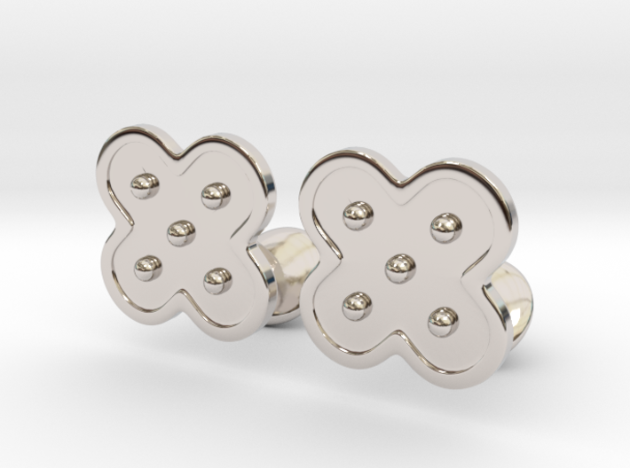 Flower Cufflinks 3d printed