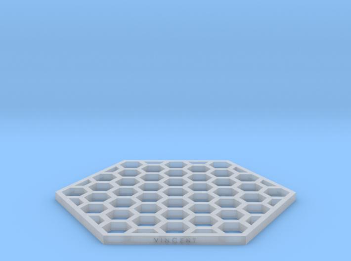 Honeycomb Coaster 3d printed