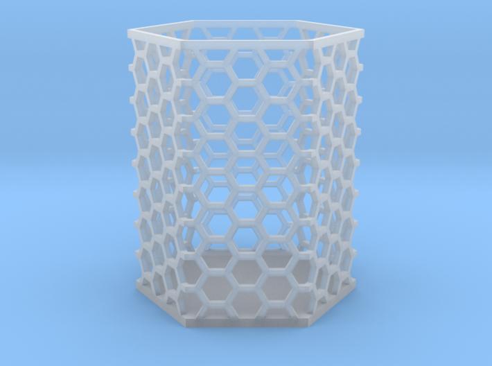 Large Honeycomb Pen Holder 3d printed