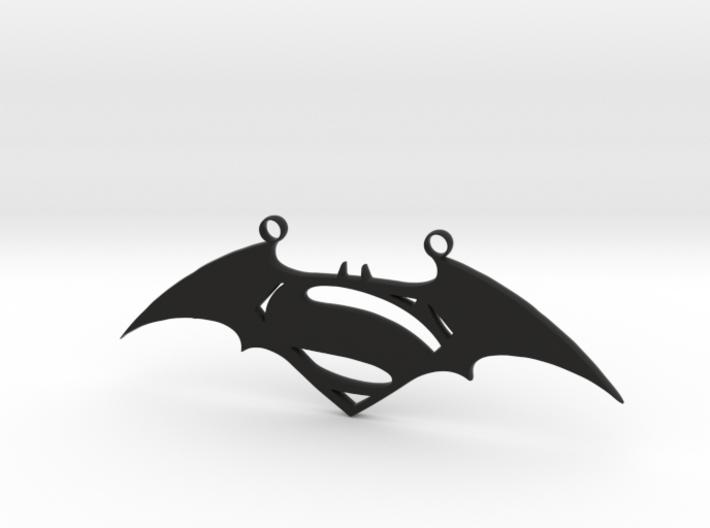 Batman and Superman Pendant 3d printed