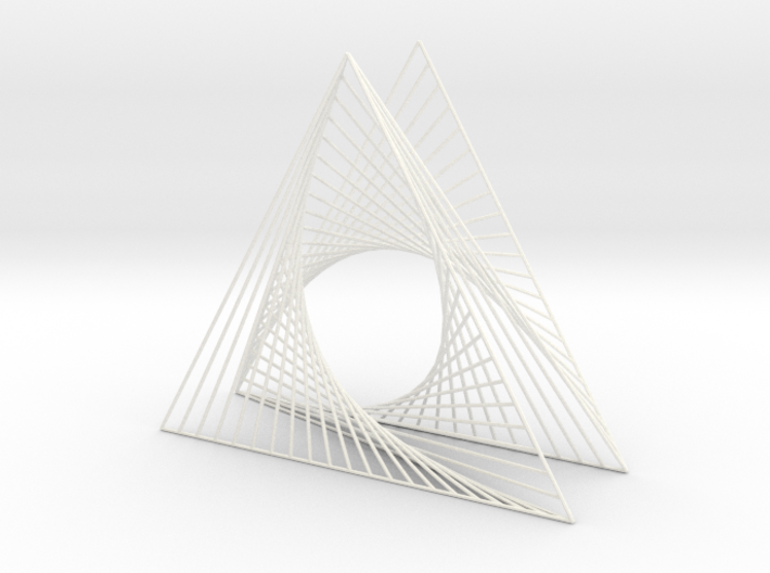 Shape Wired Parabolic Curve Art Triangle Base V3 3d printed