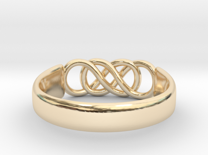Double Infinity Ring 14.9mm Size4 3d printed