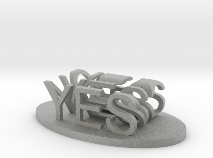 Yes/No 3d printed