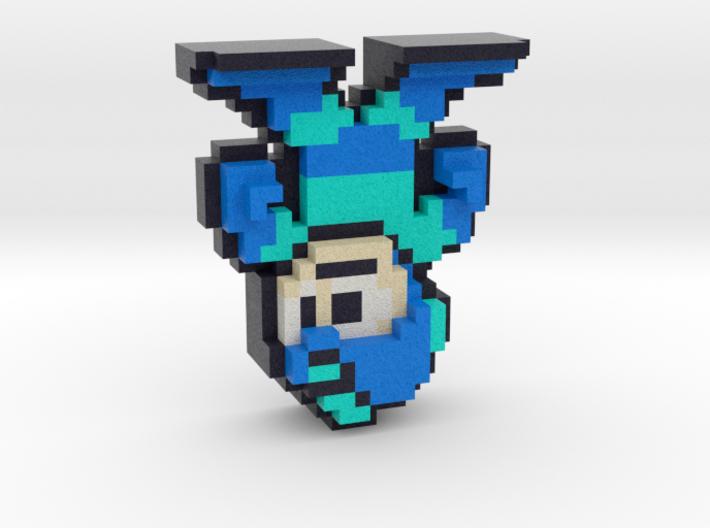 World of Nintendo Style 8-Bit Megaman Figure 3d printed