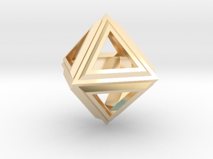 Octahedron Frame Pendant V2 3d printed