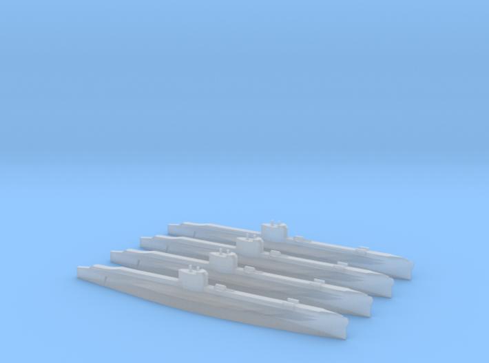 S Class Submarine (UK) 1/2400 x4 3d printed