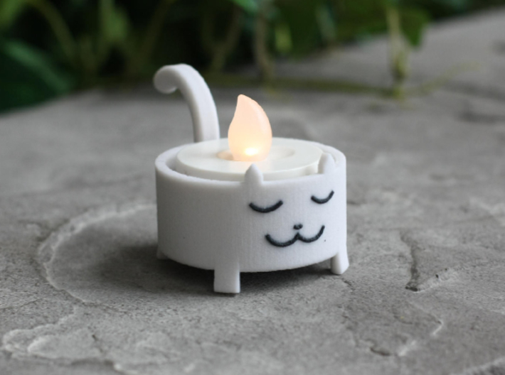 Cat Tea Light 3d printed