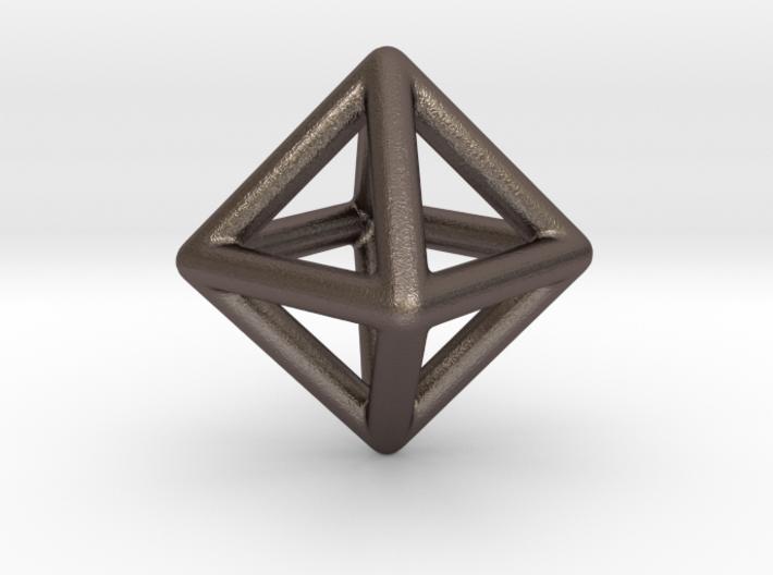 Minimal Octahedron Frame Pendant Small 3d printed