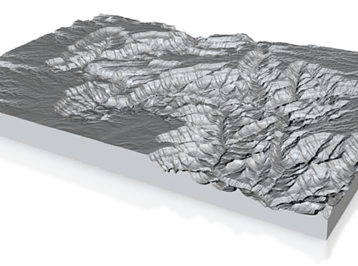 Model of Colorado RIver 3d printed