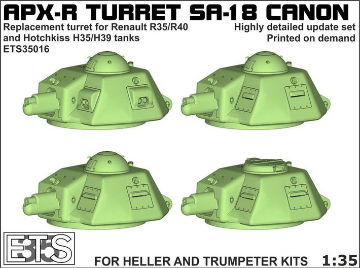 ETS35016 - APX-R turret with SA18 gun [1:35] 3d printed Boxart