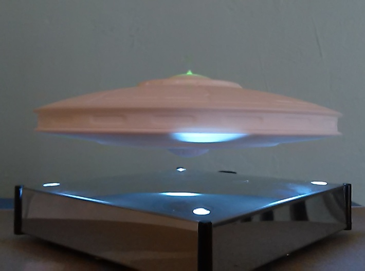 Rachel Nevada Saucer model (5 in. Dia.) 3d printed On Hover Unit (Hover Unit Not included)