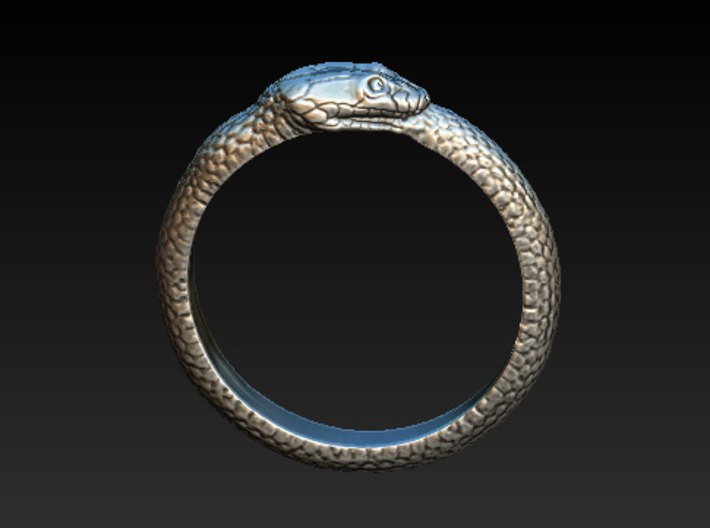 Snake ring 3d printed Just a render...